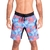 Bermuda masculina Fourmixx Summer colorida