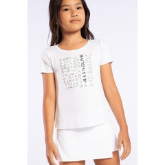 Blusa Live Icon Lux Kids White