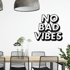 WALL ART MADERA - NO BAD VIBES