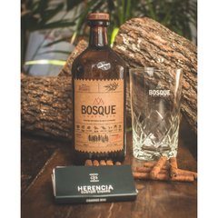 Botella Bosque + Vaso + Caja Cigarros Mini Herencia