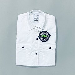 Camisa Broches Blanca en internet