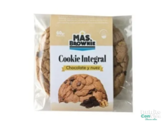 "Cookie integral ""Mas Brownie"" Sabor Chocolate y nuez"