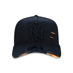 Boné New Era 9FORTY A-Frame Destroyed MLB New York Yankees - Preto - comprar online