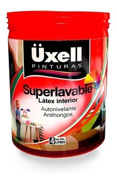 Látex Interior Super Lavable Mate Uxell Blanco X 4 Lts