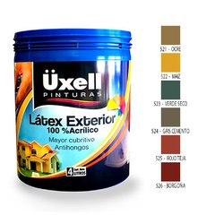 Latex Exterior 100% Acrilico Uxell Colores X 10 Lts