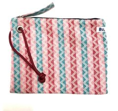 "HANDY BAGGY 07 ""gracias"" - zigzag multi colours - corda"