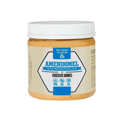 PASTA DE AMENDOIM INTEGRAL COM MEL CHOCOLATE BRANCO 500G - AMENDOMEL