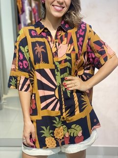 Camisa Colagem Tropical FARM