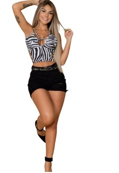 Cropped Maryland Animal Print Zebra