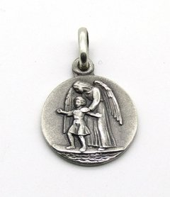 Medalla 14mm Angel De La Guarda  A  Plata 925