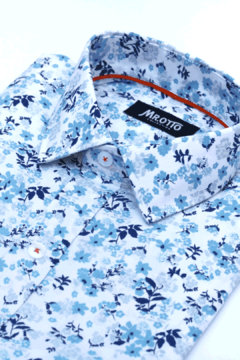 Camisa HANS Slim Fit Celeste - Mr Otto