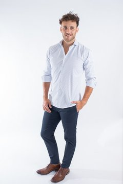 Camisa BLAZ, corte Regular Azul - Mr Otto