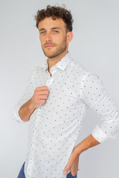 Camisa LUKE Slim Fit Blanco en internet