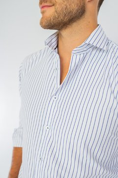 Camisa WILLIAM, corte Regular Azul en internet
