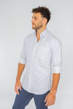 Camisa WILLIAM, corte Regular Azul - comprar online
