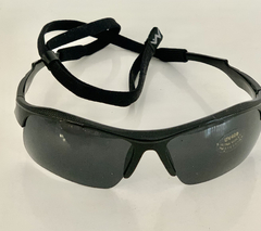 Lentes color Negro modelo Atenas Medio Marco UV400 protection con sujetador Regulable Unisex Bicicleta Running Aire Libre