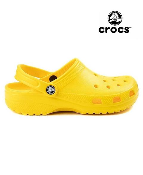 amarillas crocs