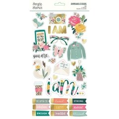 Adesivo Chipboard - I am - Simple Stories