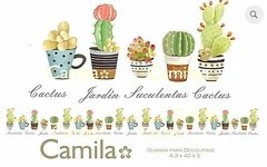 GUARDA DECOUPAGE CACTUS Y SUCULENTAS G019 - GUARDAS