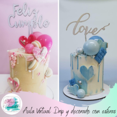 Aula Virtual  Dripping y esferas de chocolate