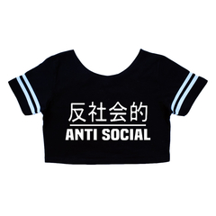 Crop top - Remera corta - Anti social - Japón