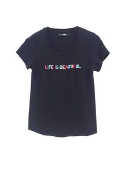 Remera Life is Beautiful - comprar online