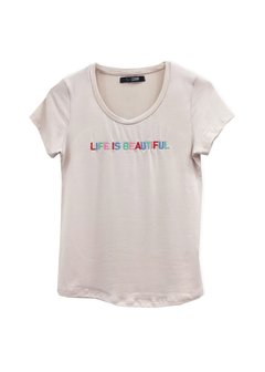 Remera Life is Beautiful - tienda online