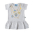 Baby dress with Boca Juniors prints