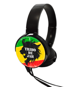 Headphone Preto - Leão Tribo de Jah