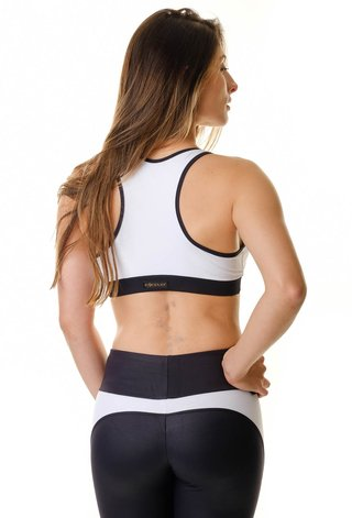 Top Fitness Branco e Preto Himalaya