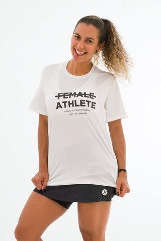 Camiseta Feminina Branca Stretch Fun Estampa Female