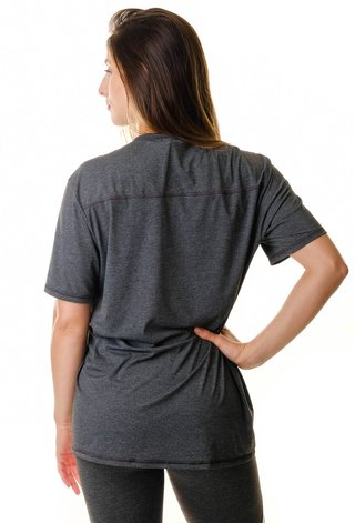 Camiseta Fitness Cinza Dark Stretch
