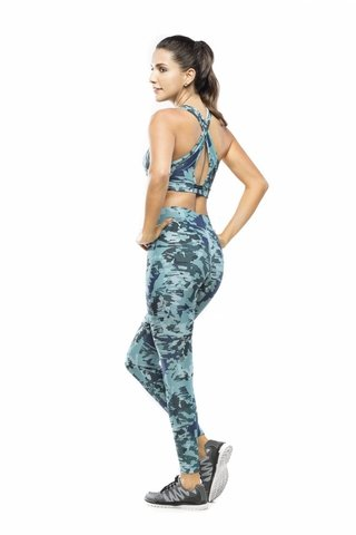 Top Fitness Estampado Camuflado AV Safari
