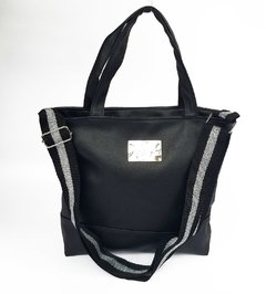 Cartera Urban Black - Cinta plata