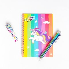 Set escolar estampado Unicornio - Multicolor