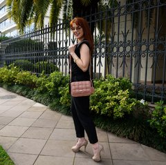 Mini Bag Tramada Rosa Antigo na internet