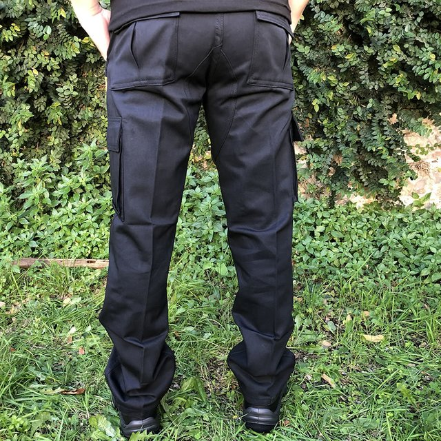 Pantalon Cargo Cazador Negro
