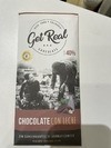 GET real. Chocolate al 40/ cacao orgánico. Con leche.