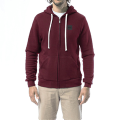 Blocky Glass Zipper Bordeaux