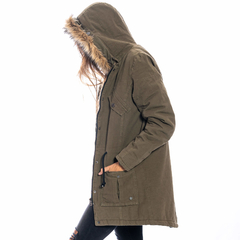 Nicole Long Jacket Olive