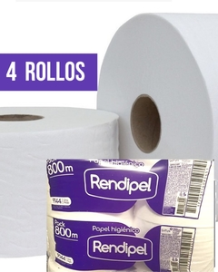 Papel Higiénico Rendipel Jumbo Simple Hoja Pack X 800 Mts (9144)
