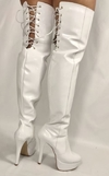 BOTA OVER THE KNEE SALTO ALTO  VERNIZ BRANCO 1717 P