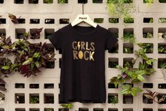CAMISETA GIRL ROCK PTO - Woog