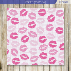 Papel Estampado - Kisses - 30x30 en 90g x 20 u