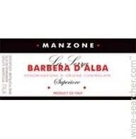 Manzone Barbera D'Alba 2009 SUPERIORE :: 14,5%alc  ITALIA :: 750ml - FREE SHOP
