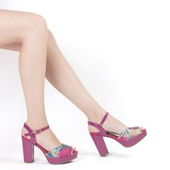 Sandalia Fucsia Floreada Piccadilly 814062 - EZ Shoes