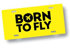 Chapa Patente Born To Fly