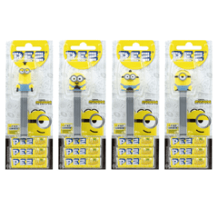 Pez Minions  Dispenser + 3 Pastilhas Bala Kit 4 Personagens