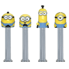 Pez Minions  Dispenser + 3 Pastilhas Bala Kit 4 Personagens - comprar online