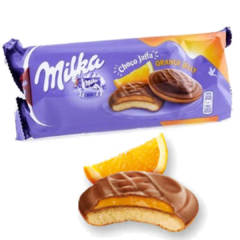 3 Biscoito Choco Jaffa Orange / Mousse / Raspeberry - Milka na internet